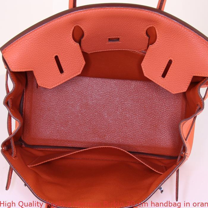 014f3dfd7d High Quality Replica Hermes Birkin 30 cm handbag in orange Feu togo leather
