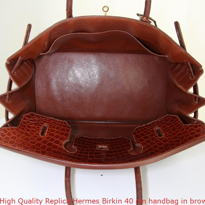 75a5884b79cb High Quality Replica Hermes Birkin 40 cm handbag in brown alligator ...