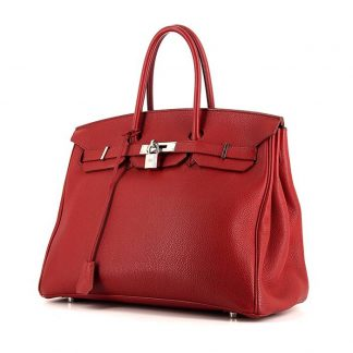 18b0b22e78 You re viewing  Perfect Replica Hermes Birkin 35 cm handbag in red Garance  togo leather £10