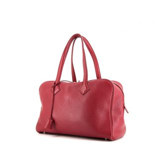 a31d783020cb Perfect Replica Hermes Victoria travel bag in raspberry pink togo leather