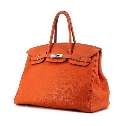 d12ac5104f9 UK Replica Hermes Birkin 35 cm handbag in orange togo leather ...