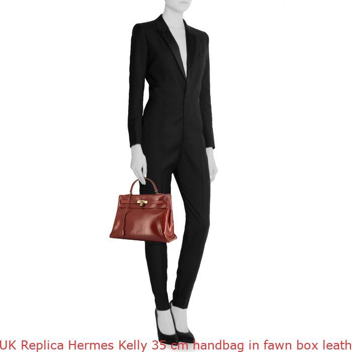 76c3116183 UK Replica Hermes Kelly 35 cm handbag in fawn box leather – Hermes ...