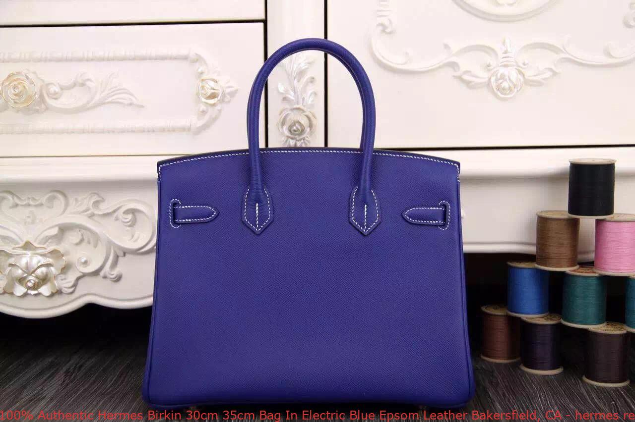 4b959cdd85b 100% Authentic Hermes Birkin 30cm 35cm Bag In Electric Blue Epsom ...