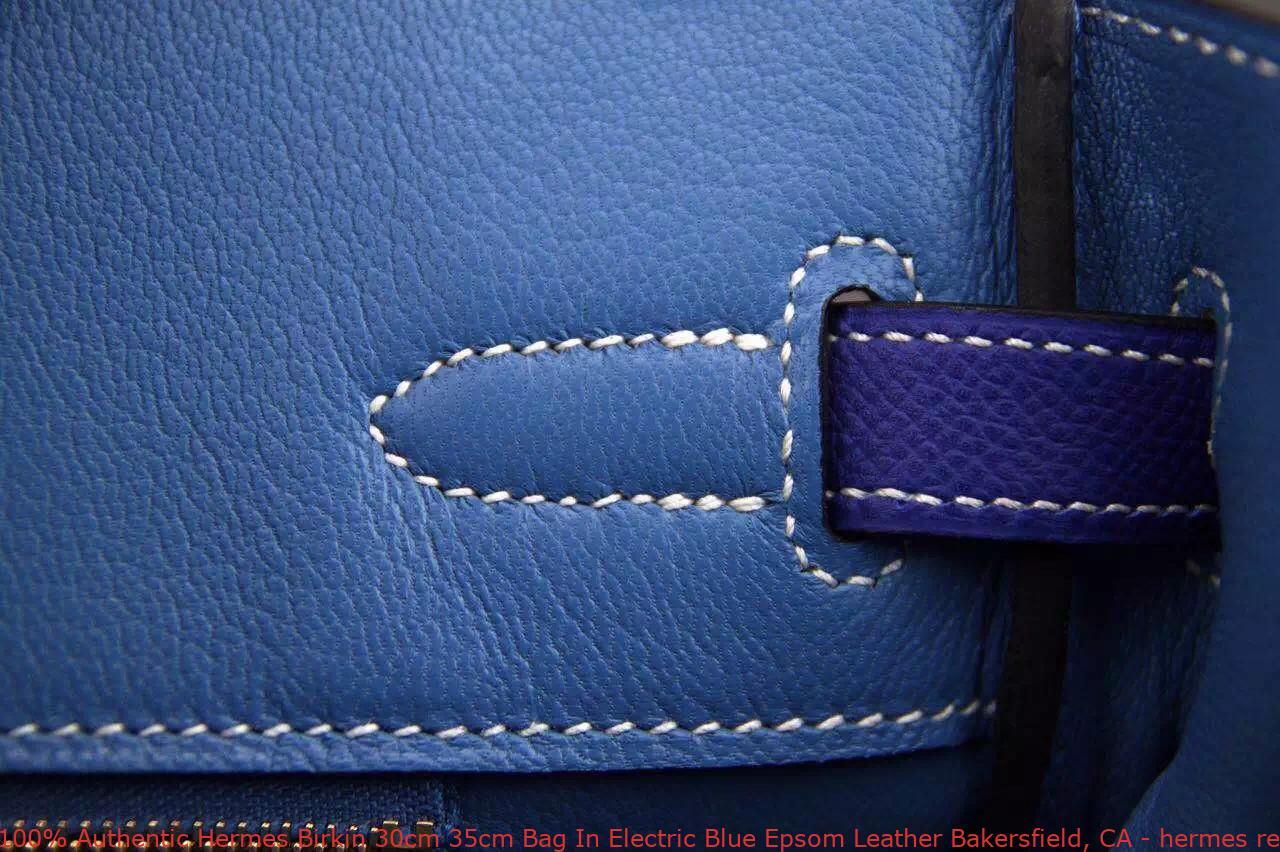 266c531cd5bb 100% Authentic Hermes Birkin 30cm 35cm Bag In Electric Blue Epsom ...