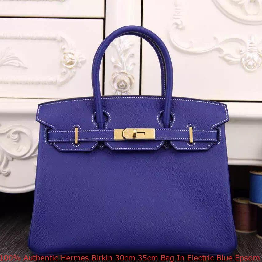 c5622e3294 100% Authentic Hermes Birkin 30cm 35cm Bag In Electric Blue Epsom ...