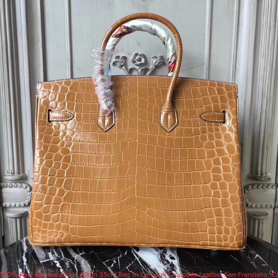 5be10ef4d7 100% Real Hermes Birkin 30cm 35cm Bag In Camarel Crocodile Leather ...
