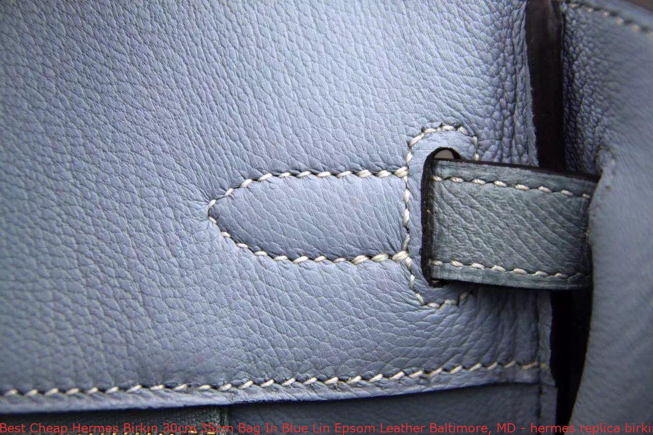 Best Cheap Hermes Birkin 30cm 35cm Bag In Blue Lin Epsom Leather ... a3258e09c496b